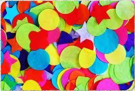 materiales diversos puedes utilizar muchos, como el confeti