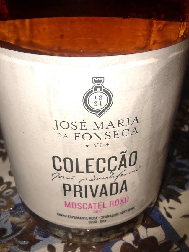 Domingos Soares Franco Colecção Privada Espumante Moscatel Roxo 2012 - reservarecomendada.blogspot.pt
