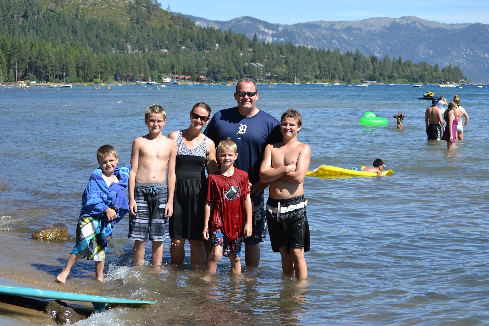 If you 39 re happy you know it summer tradition for Shore fishing lake tahoe