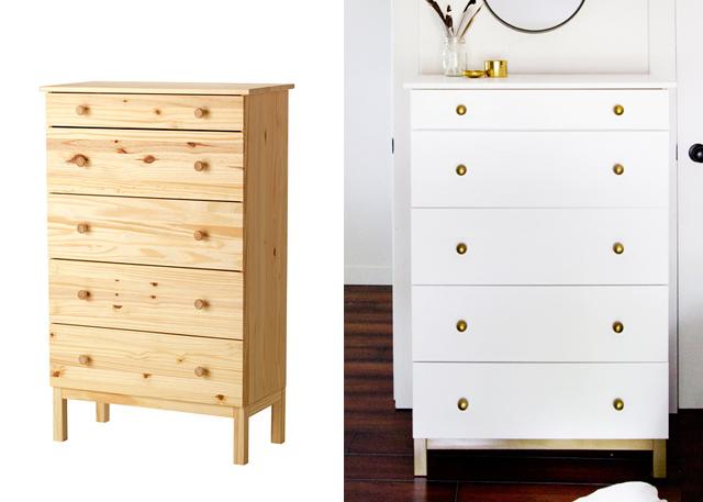 5 incredible makeovers ikea hack painted furniture diy 39 s the cottage market. Black Bedroom Furniture Sets. Home Design Ideas