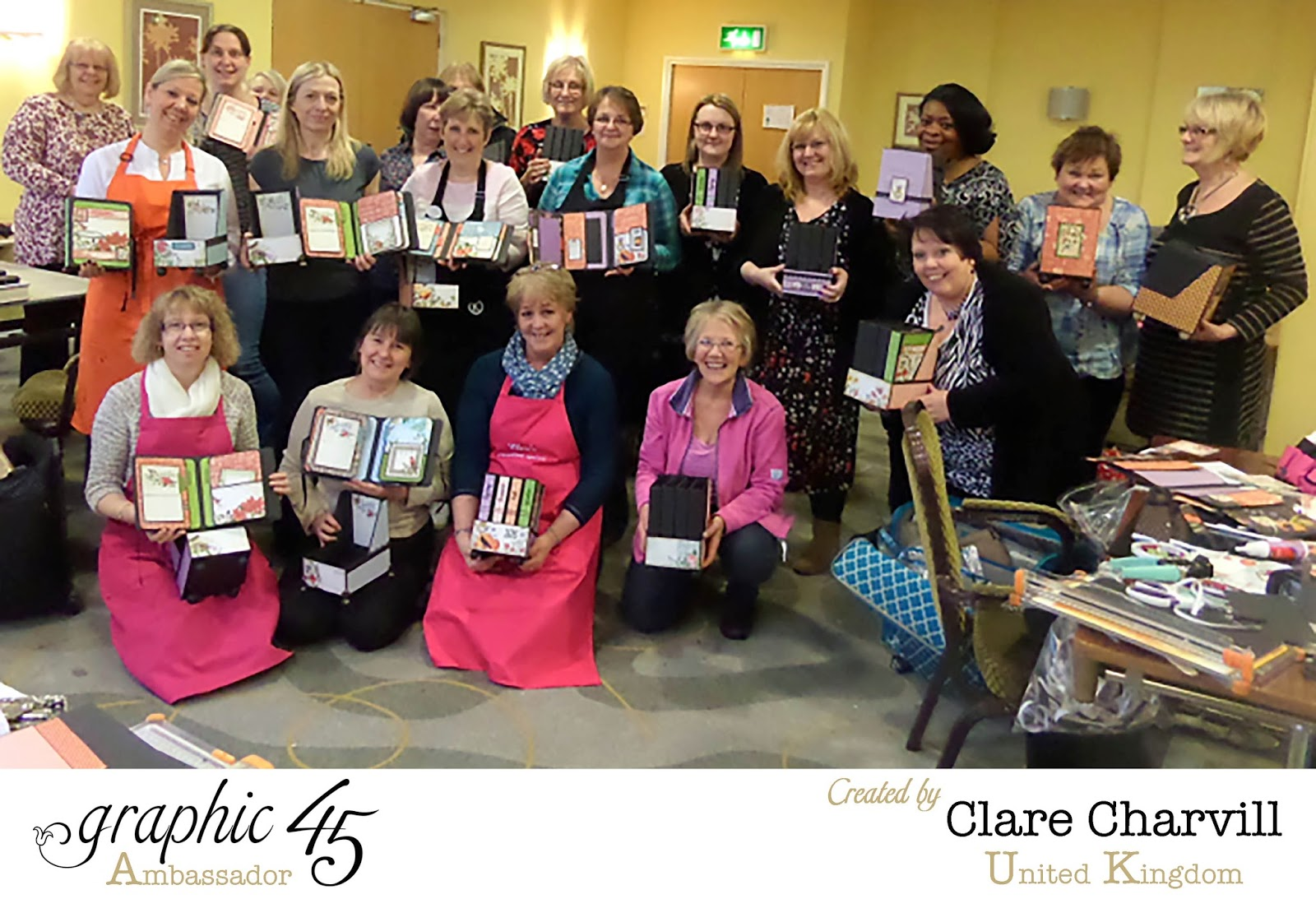 Crafters retreat with Clare Charvill Feb 2015 Graphic 45 Time to Flourish