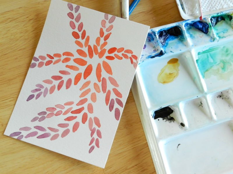 Colorful abstract watercolor art by Elise Engh- Grow Creative.