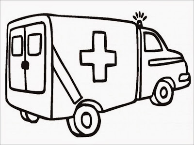 free printable ambulance coloring pages