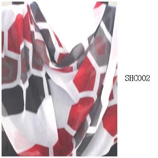 shawl halfmoon 2 layer geometri