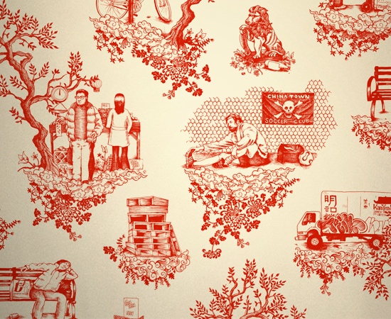 Dan Funderburgh designed Chinatown Toile for the NYC Chinatown Soccer ...