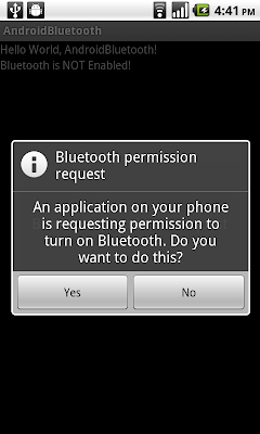 Turn-On BlueTooth using intent of BluetoothAdapter.ACTION_REQUEST_ENABLE