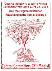 PCI (Maoísta) en apoyo a la Revolución en Filipinas