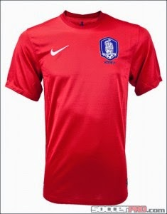 Kostum Timnas Korea Selatan Piala Dunia 2014