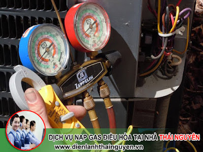Nạp Gas Điều Hòa tại nhà Thái Nguyên