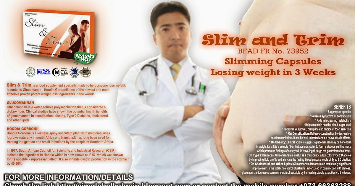 """AIM GLOBAL - Bahrain: Slim and Trim """"Slimming Capsules ..."""