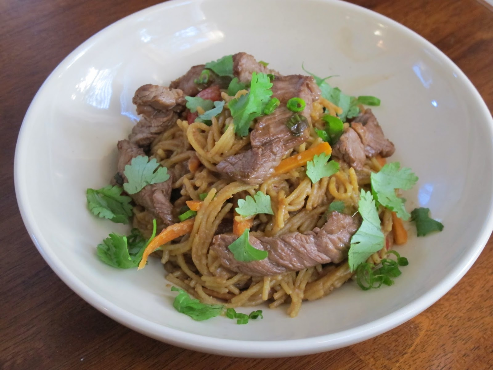 Peanut Noodles with Beef and Vegetables