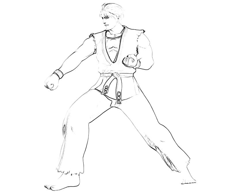 printable-king-of-fighters-ryo-sakazaki-roar_coloring-pages