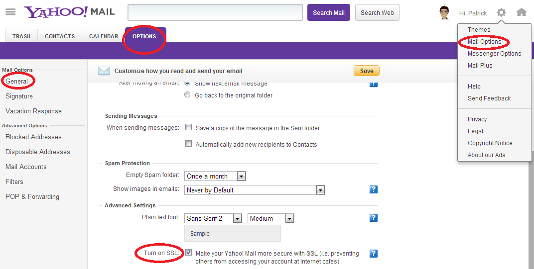 Green Espirit How To Enable Ssl Https In Yahoo Mail And