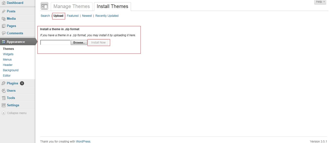 install new theme in wordpress