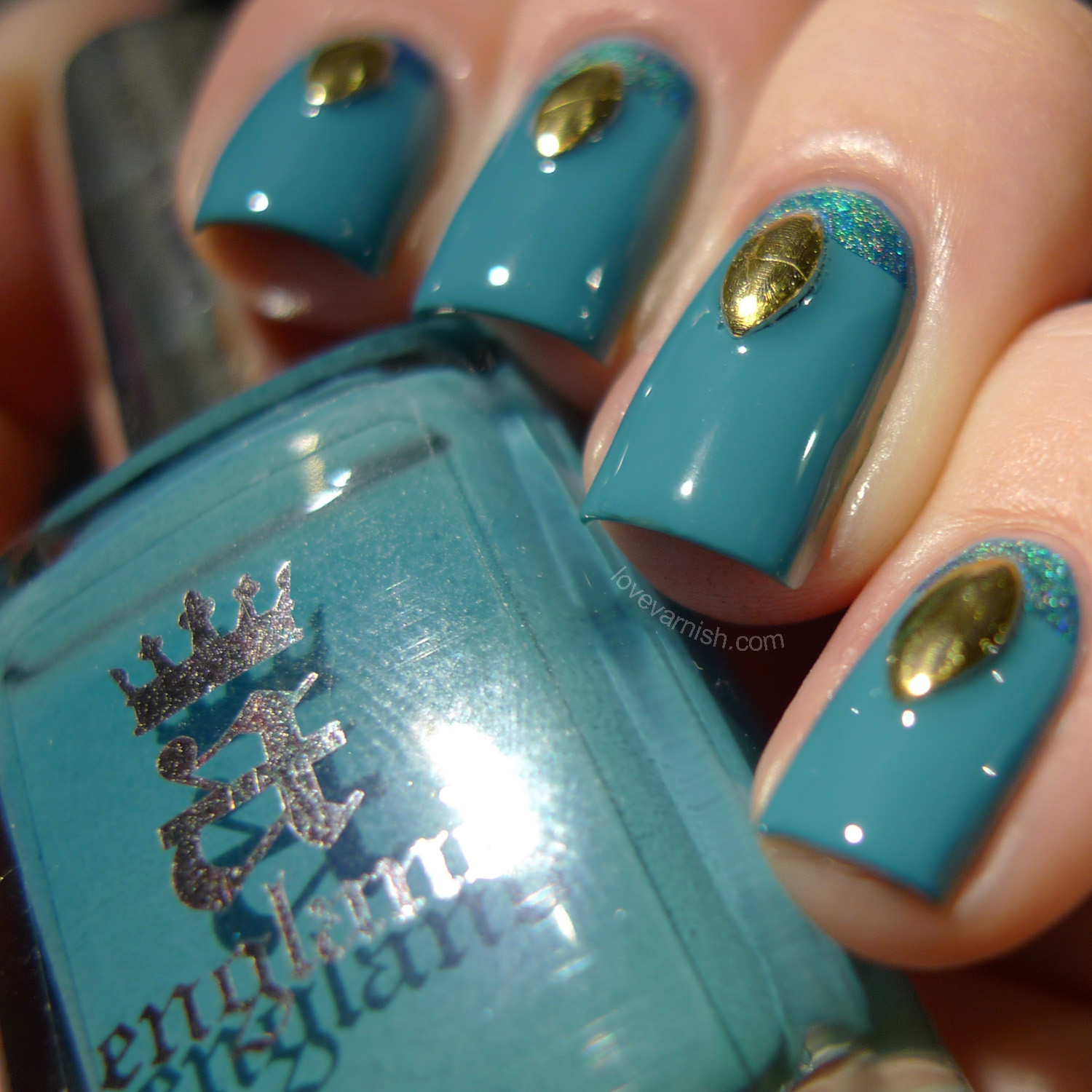 a england Galahad and China Glaze DV8 nail art