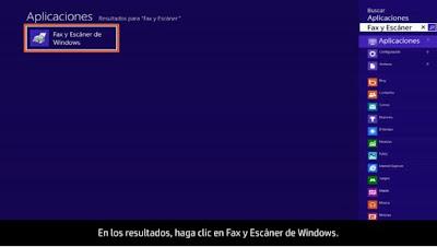imagen de fax y escaner en windows 8