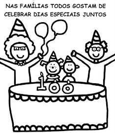 desenhos para colorir aniversário