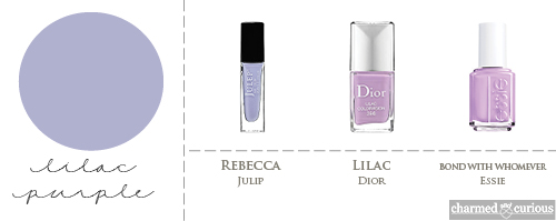 Julip Rebecca, Dior  Liliac, Essie Bond With Whomever