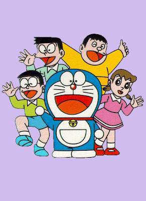 Coloring Pages Doraemon, Nobita, Dorami, Shizuka, Suneo, Jayen and Friends
