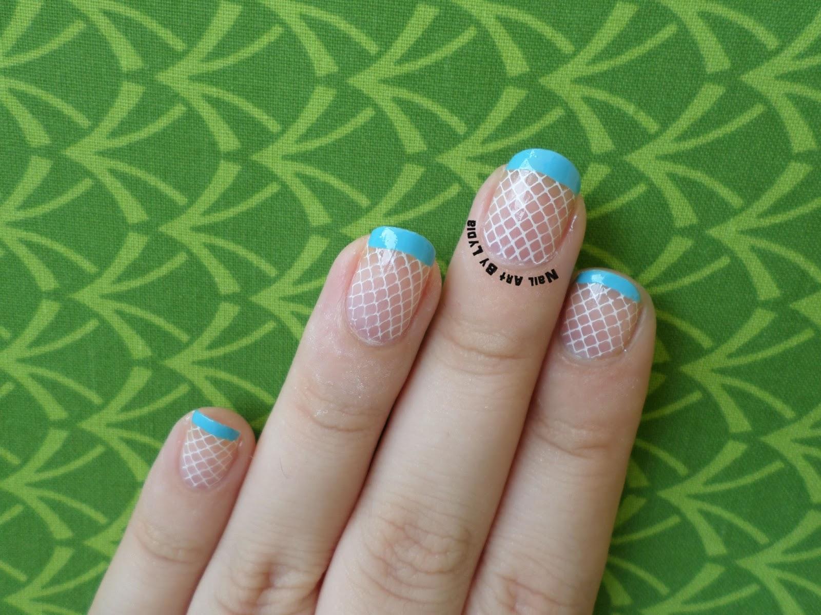 Nail Art By Lydia: Manicura Francesa con rejilla