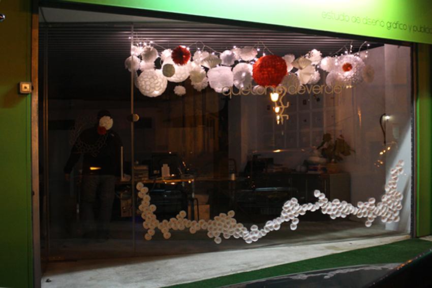 Escaparate navidad que tono de verde - Adornos de navidad para escaparates ...