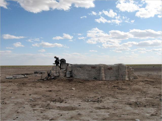 Казахстан, Мангистауская область, плато Устюрт. Степь.