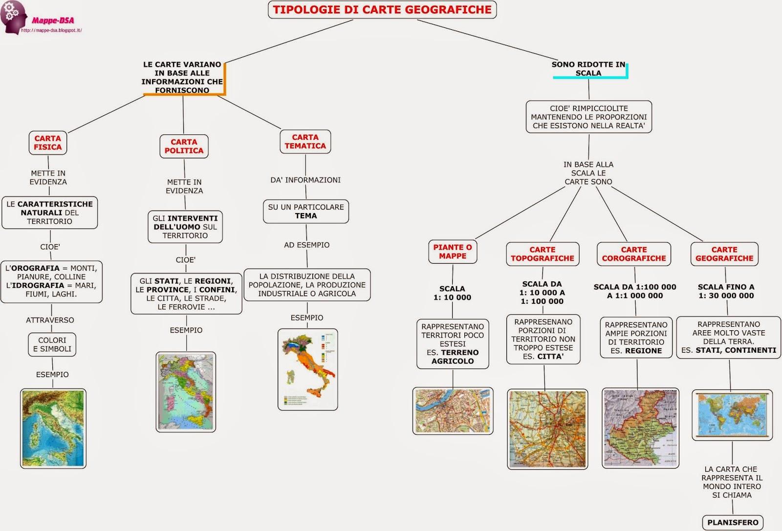 mappa schema dsa geografia carte geografiche fisica politica mappa topografica corografica