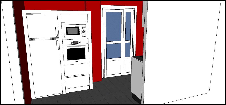 Los hogares que habitamos proyecto cocina laura - Columna horno y microondas ...