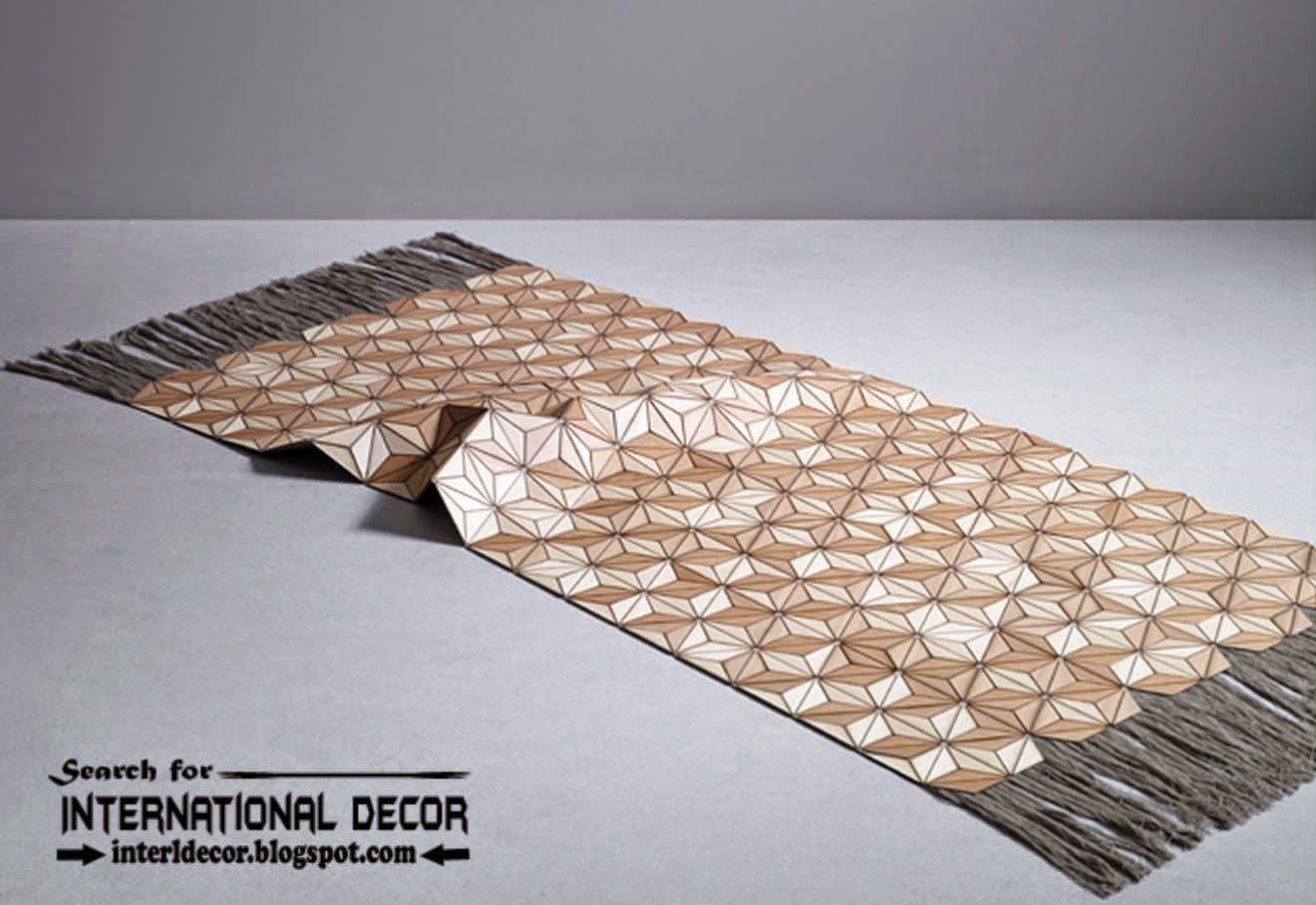 New collection of Eco-friendly wooden carpet and rugs textured