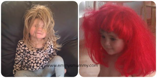Wig wednesday, dressing up, CLIC Sargant, charity, www.emmysmummy.com
