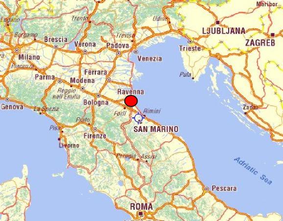 bologna map italy with Ravenna Liegt Sudlich Von Venedig on Modena Haritasi furthermore LocationPhotoDirectLink G187806 D4289751 I207421002 Basilica di San Francesco Ravenna Ravenna Province of Ravenna Emilia Rom in addition Parma Map additionally 4986711850 besides 149392912623181401.