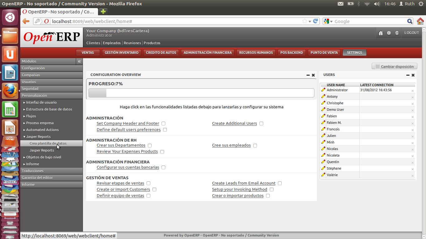 TRESCLOUD - OpenERP ECUADOR: Primer reporte con Jasper Report y OpenERP