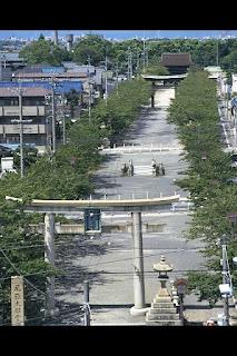 Torii of Owari Okunitama Jinja