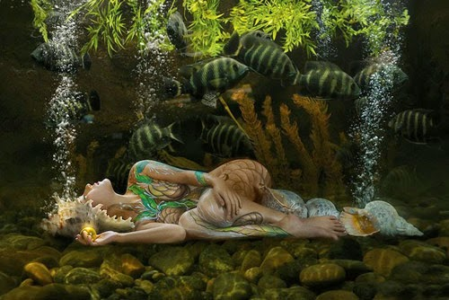 Ảnh gái xinh Body painting của Dương quốc định 27