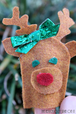 Christmas Crafts, felt puppet