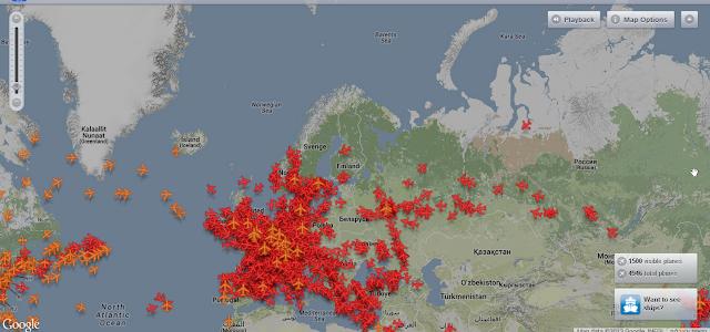 איתור מטוסים. מפת טיסות בזמן אמת