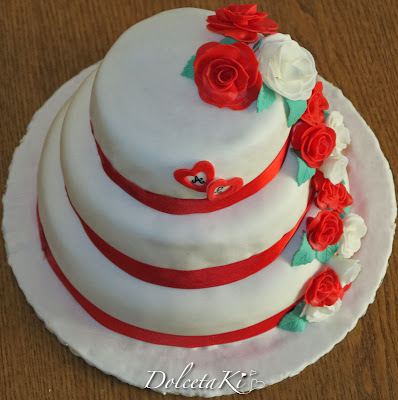 wedding cake rose rose e blanche