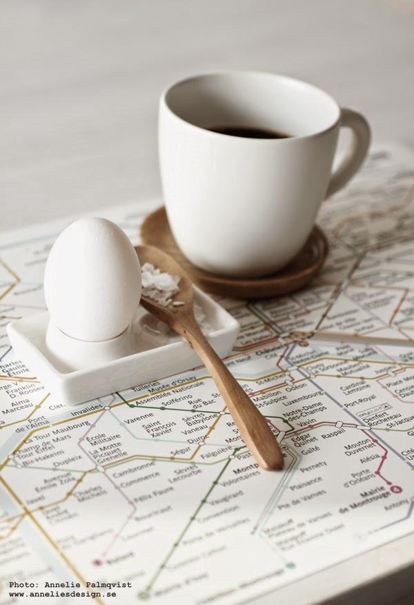 metro underlägg, tallriksunderlägg, Paris metro, tunnelbana, tunnelbanan, karta över metrolinjerna, webshop, webbutik med inredning, webbutiker, läcker äggkopp i vitt porslin, vita, äggkoppar,