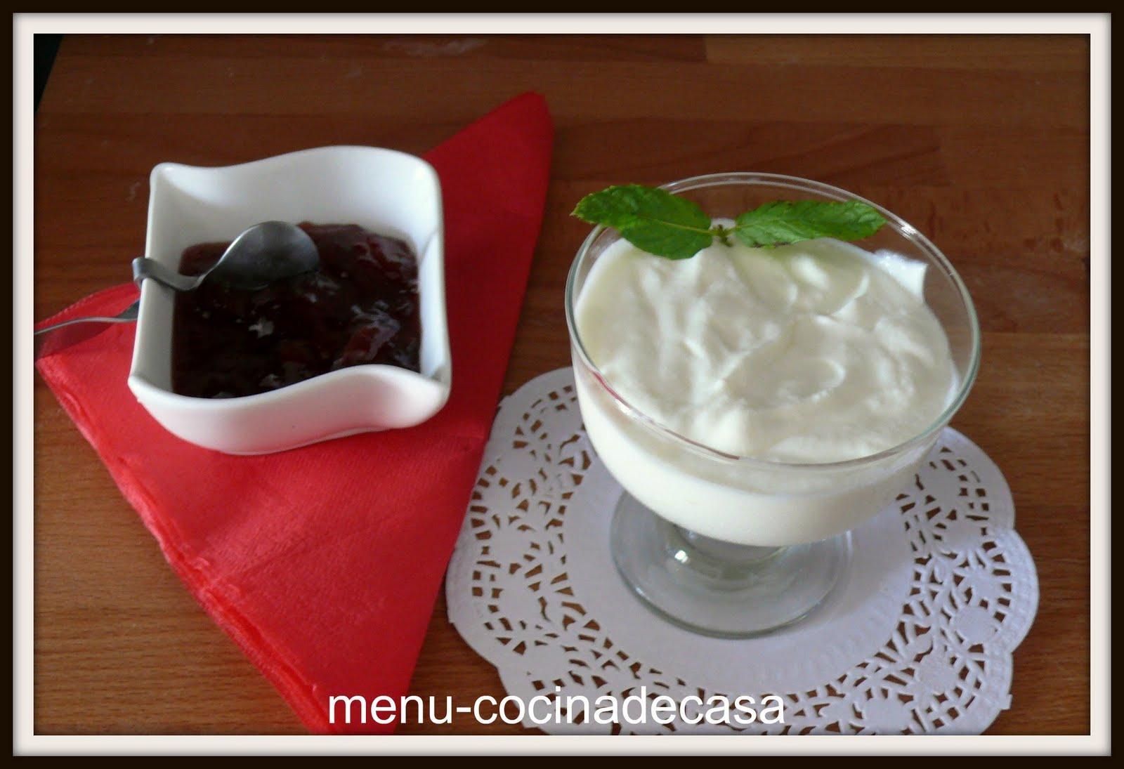 Menu cocinadecasa mousse de yogurt - Mouse de yogurt ...