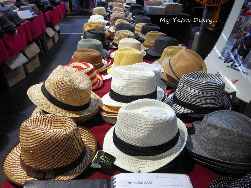 Hats in Queen Victoria Market, Melbourne