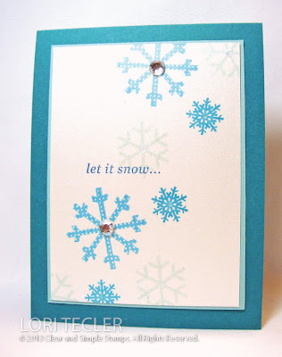 Let it Snow-designed by Lori Tecler-Inking Aloud-stamps from Clear and Simple Stamps
