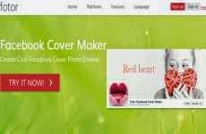 Fotor Facebook Cover Maker: para crear vistosas portadas para Facebook online