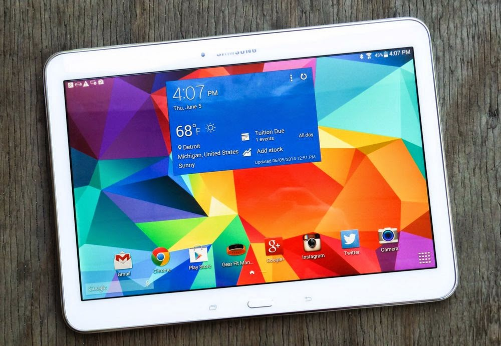 Four new Samsung tablet.