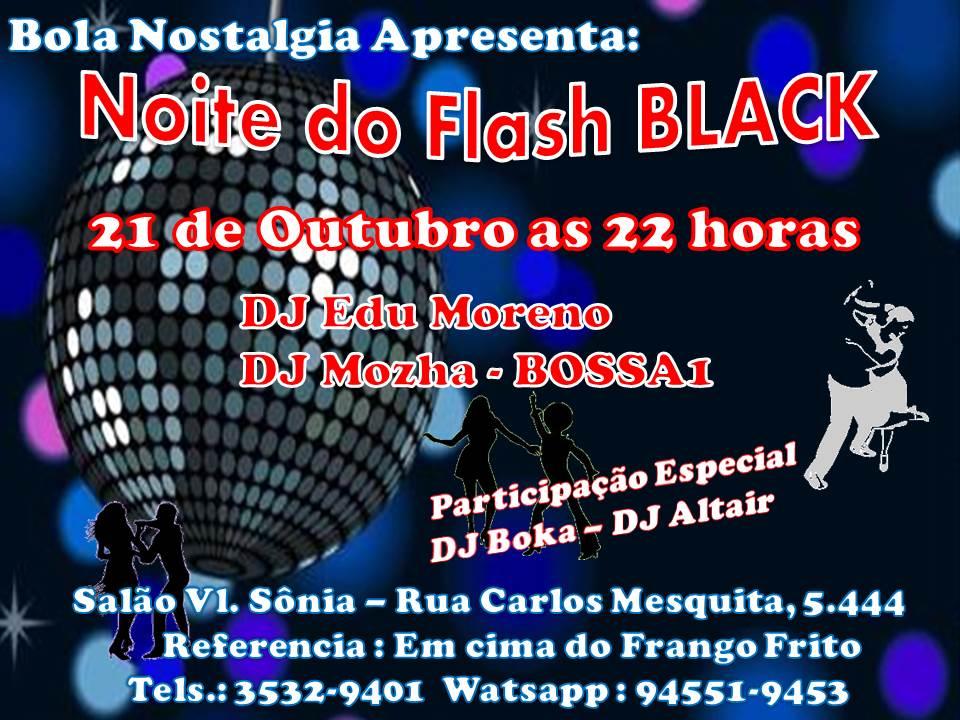 NOITE DO FLASH BLACK