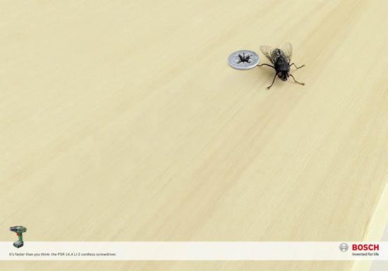 anúncios minimalistas e criativos na internet - Bosch