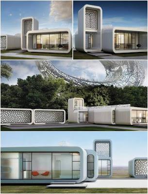 Oficina impressa em 3D Winsun Dubai