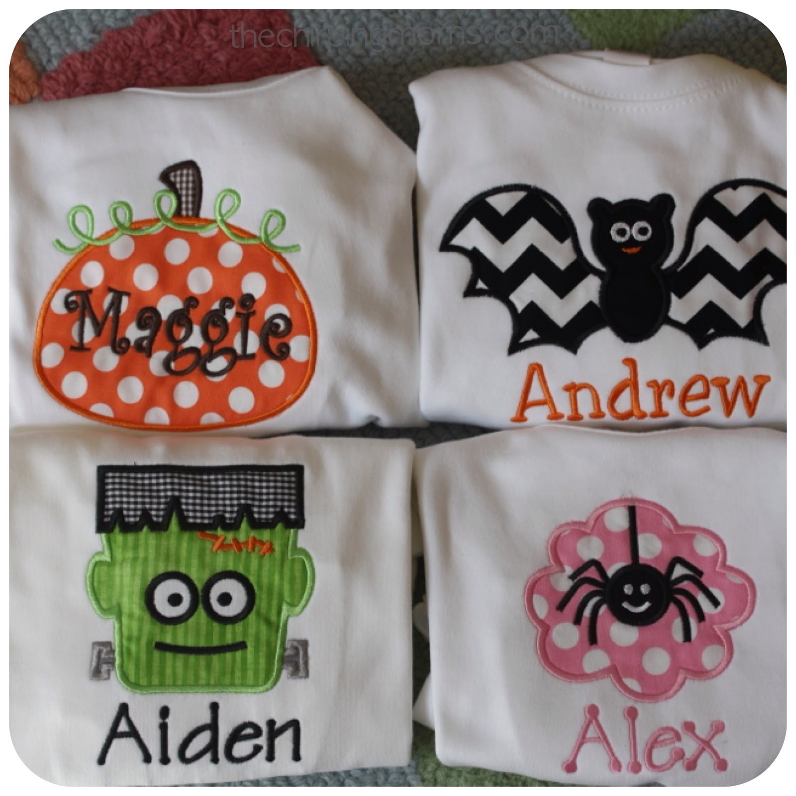 Chic A Dee Embroidery Halloween Shirts The Chirping Moms
