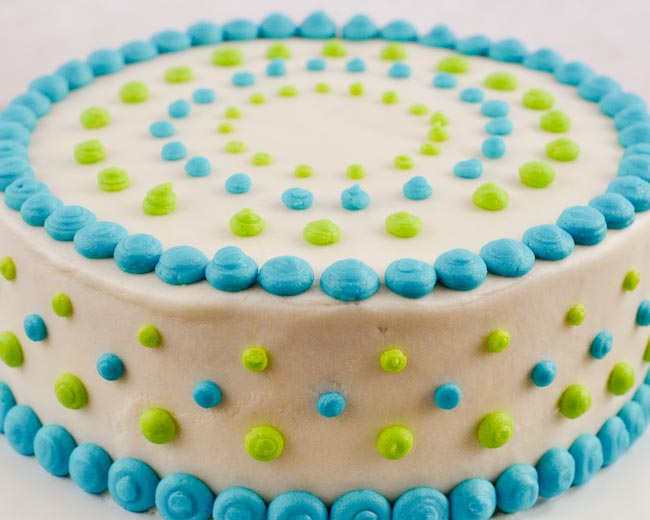 Beki cook 39 s cake blog polka dot baby shower cake for Baby boy cake decoration ideas