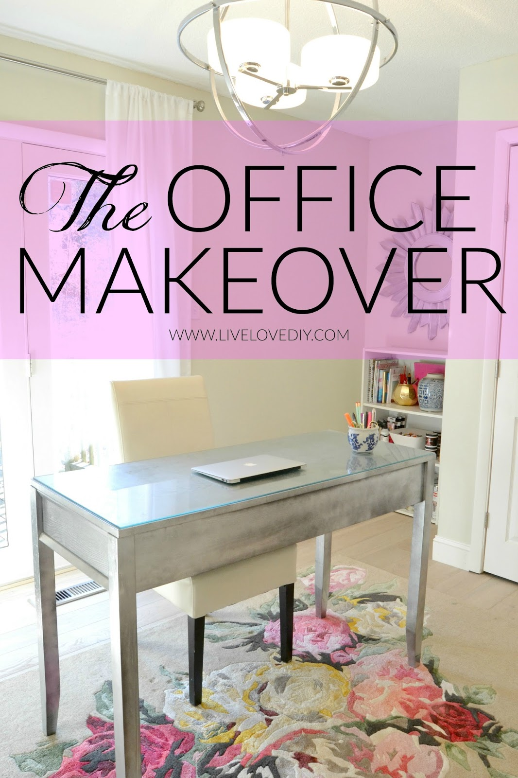 Livelovediy home office decorating ideas my latest for Home office makeover ideas