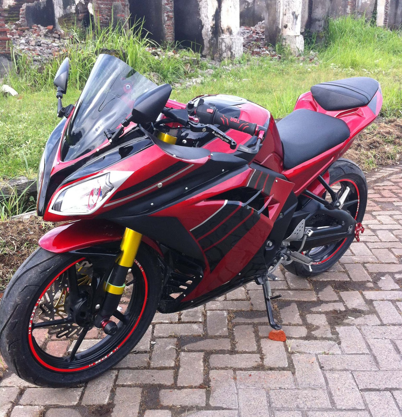Top yamaha byson modifikasi ninja 250